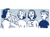 Een illustratie van de vintage stijl van een groep van vrouwen — Stockfoto