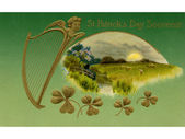 A vintage St. Patrick's Day Souvenir card — Stock Photo