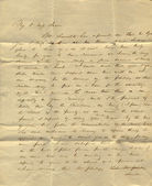 Old letter from mid-19th century — Stock Photo
