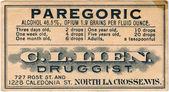 Pharmacy label — Stock Photo