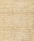 An old handwritten letter from 1844 — Foto de Stock