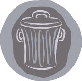 A drawing of a garbage can — Stock Photo