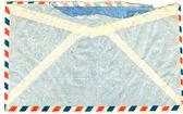 Back of vintage airmail envelope — Stock Photo