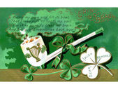 A vintage card with a St Patrick's Day poem — Stock Photo