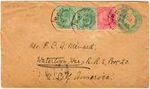 Vintage sobres con sellos — Foto de Stock
