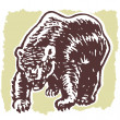 Illustration of fierce looking bear — Stock Photo #12124222
