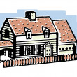 Stock Photo: Illustration of small bungalow home