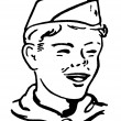 Stock Photo: Portrait of a boy scout