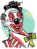 An illustration of a clown — Stock Photo