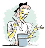 A pop art style portrait of a chef — Stock Photo