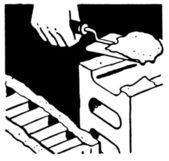 Een zwart-wit versie van een vintage print van bakstenen en mortel — Stockfoto