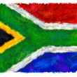 Stock Photo: Drawing of flag of South Africa