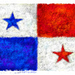 Drawing of the flag of Panama — Stock Photo