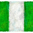 Stock Photo: Drawing of flag of Nigeria