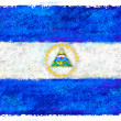 Stock Photo: Drawing of flag of Nicaragua