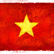 Stock Photo: Drawing of the flag of Vietnam