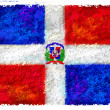 Drawing of the flag of Dominican Republic — Stock Photo