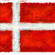 Drawing of the flag of Denmark — Stock Photo