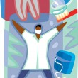 A graphic representation of dental care — Stock Photo
