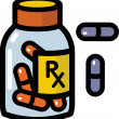 Illustration of prescription drugs — Stock Photo