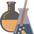 Stock Photo: Illustration of chemicals in beakers