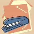 Stapler and file folders — Stock Photo
