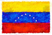 Dibujo de la bandera de venezuela — Foto de Stock
