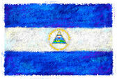 Drawing of the flag of Nicaragua — Stock Photo