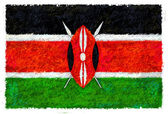 Drawing of the flag of Kenya — Stock Photo