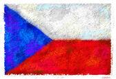 Disegno della bandiera della repubblica ceca — Foto Stock