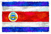 Drawing of the flag of Costa Rica — Stock Photo