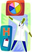 Una rappresentazione grafica di un medico — Foto Stock
