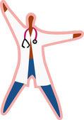 Illustratie van een arts — Stockfoto