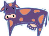 Ilustracja Fioletowa krowa — Zdjęcie stockowe