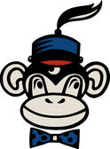 Kresba z opice nosí klobouk — Stock fotografie
