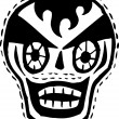 Black and white clown skull — Stock Photo #12408743