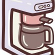 Stock Photo: Illustration of coffee maker