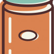 Illustration of canister — Stock Photo #12409028