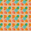 A colorful pattern of shapes and flowers — Stock Photo