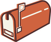 Illustration of a mail box — Stock Photo