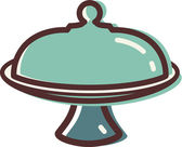 Illustration of a cake plate — Stock Photo