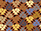 A pattern of jaggered shape and muted color — Stock Photo