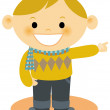 A young boy pointing — Stock Photo