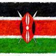 Drawing of the flag of Kenya - Stock Photo