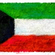Drawing of the flag of Kuwait - Stock Photo