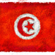 Drawing of the flag of Tunisia - Stock Photo