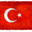 Drawing of the flag of Turkey — Stock Photo