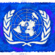 Drawing of the flag of United Nations — Stock Photo