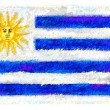 Drawing of the flag of Uruguay — Stock Photo