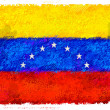 Drawing of the flag of Venezuela — Stock Photo